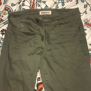 Green army style pants
